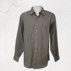 KIRKLAND Charcoal Striped Button Down Dress Shirt